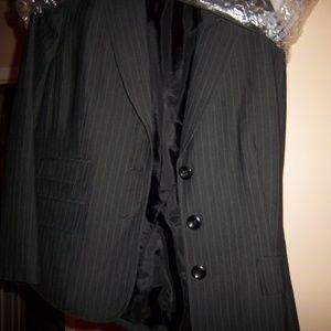 Jones NY Blue Pinstripe Blazer 14